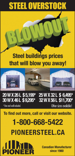 Overstock Blowout at Pioneer Steel!